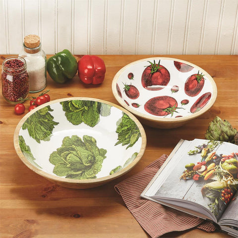 Two's Company TC 52176L Large Lettuce Wood Bowl