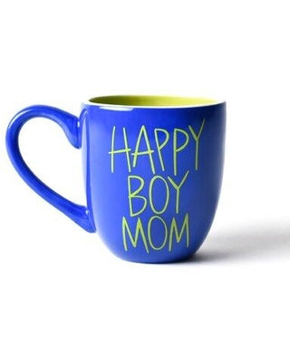 Coton Colors CC HEV-MUG-HBM Happy Boy Mom 4.25 Mug Cobalt