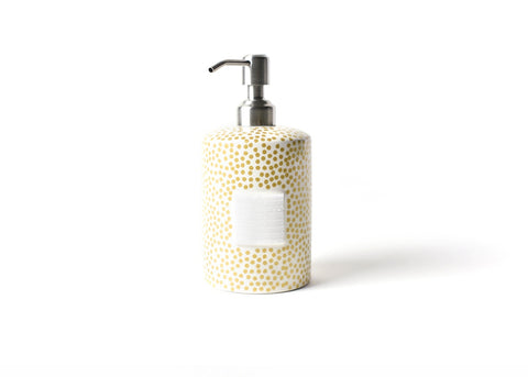Coton Colors CC MINI-CSP-GLD Gold Small Dot Mini Cylinder Soap Pump