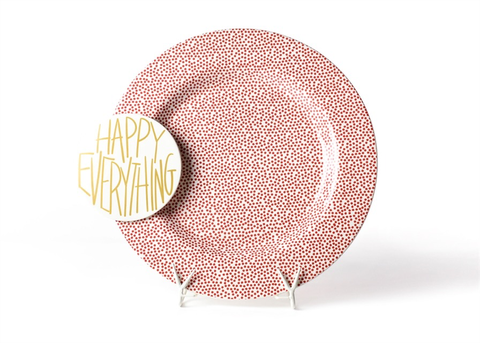 Coton Colors CC 16PL-SDOT-RED Red Small Dot Big Entertaining Platter W/Happy Everything Attachment