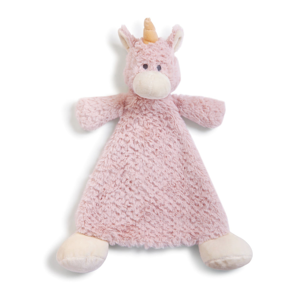 DEMDACO 5004700516 Wendy Unicorn Rattle Blankie