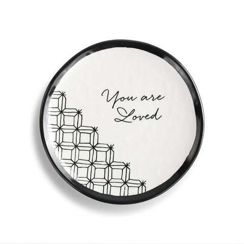DEMDACO 1004100028 You Are Loved Dessert Plate