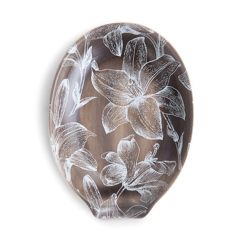 DEMDACO 1004180458 Lillies Oval Spoon Rest