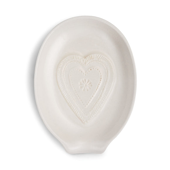 DEMDACO 1004180457 Heart Oval Spoon Rest