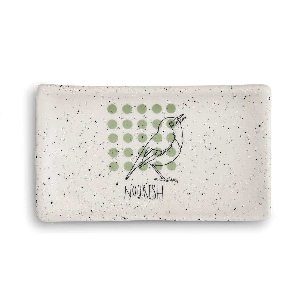 DEMDACO 1004180465 Nourish Rectangle Spoon Rest