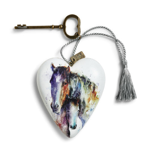 DEMDACO 1003480217 Mare and Foal Art Heart