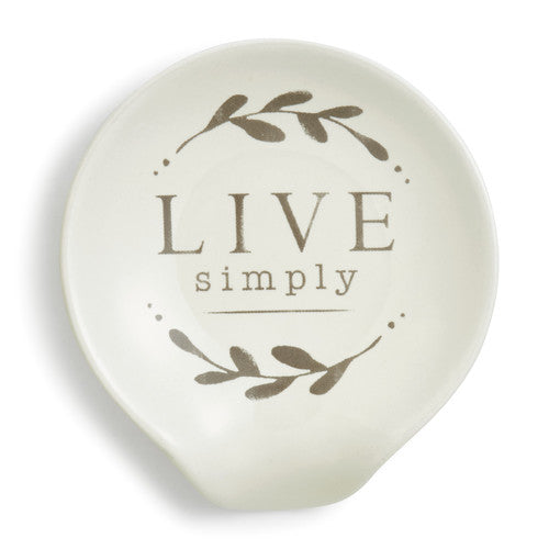 DEMDACO 1004180298 Live Simply Spoon Rest