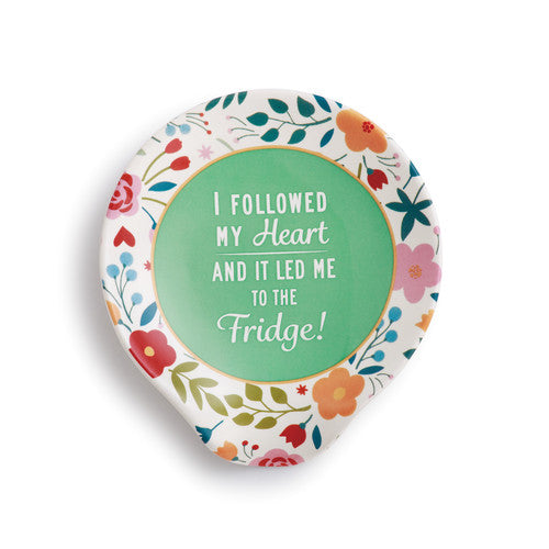 DEMDACO 1004180160 Followed My Heart Ceramic Spoon Rest
