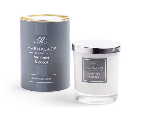 Marmalade of London 83-12125 Cashmere and Cocoa Glass Candle Gift Boxed