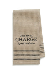 Mona B MH-181 Cats In Charge Dishtowel
