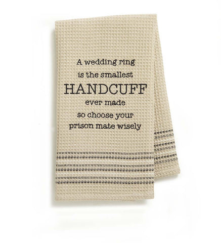 Mona B MH-158 Wedding Ring Dishtowel