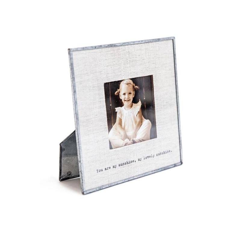 SugarBoo & Co. SB PF103 6x6 You Are My Sunshine Glass Photo Frame