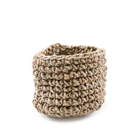 SugarBoo & Co JOB054 Small Knitted Jute Basket 11""