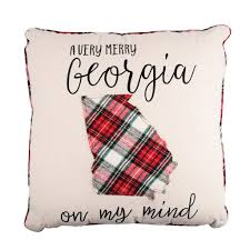 Glory Haus Inc. GH 72100542 Very Merry GA On My Mind Pillow