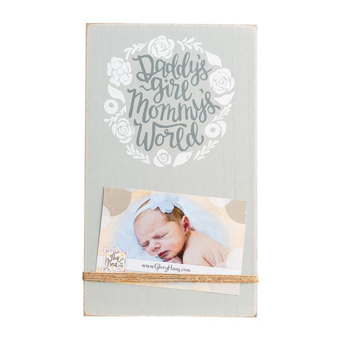 Glory Haus Inc. GH 37100107 Daddy's Girl/Mommy's World Twine Frame