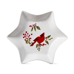 TAG T G10170 Cardinal & Berries Star Dish LG