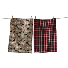 TAG T G10542 Prancing Deer Dishtowel Set/2