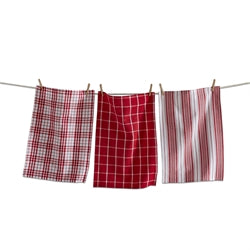 TAG T G10674 Merry Plaid Dishtowel Set/3
