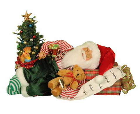 Karen Didion KD CC16-168 Lighted Napping Santa