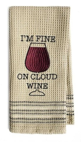 Mona B MH-214 On Cloud Wine Dishtowel
