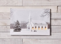Melrose International MI 76233 Church & Tree LED Canvas