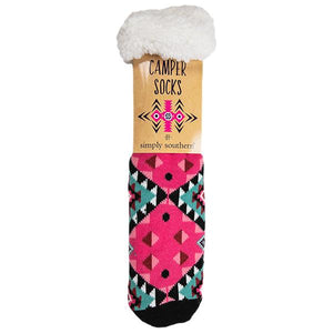 Simply Southern SS 0192 Camper Sock-Aztec Pink