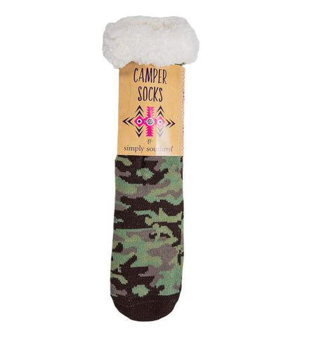 Simply Southern SS 0192 Camper Socks-Camoflage Green