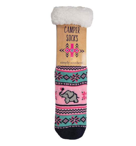 Simply Southern SS 0192 Camper Sock-Elephant