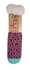 Simply Southern SS 0192 Camper Socks-Leopard Pink
