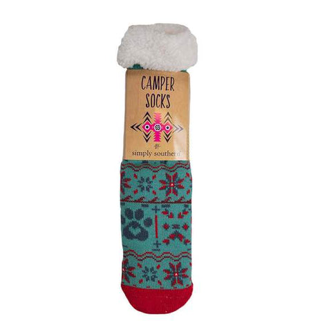 Simply Southern SS 0192 Camper Socks-Paw