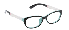 Peepers 2568200 Pacific Promenade-Black/White +2.00