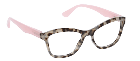 Peepers 2578300 Pebble Cove-Gray Tortoise/Pink +3.00