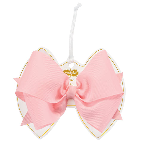Mud Pie MP 10160047 Light Pink Bow Clip