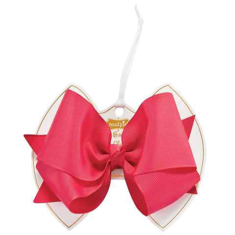 Mud Pie MP 10160050 Neon Pink Bow Clip