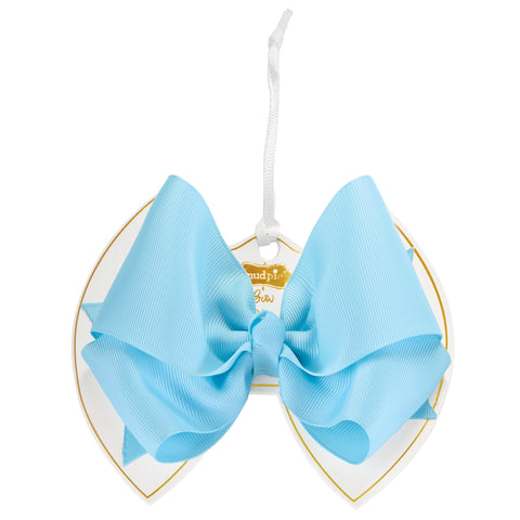 Mud Pie MP 10160051 Light Blue Bow Clip