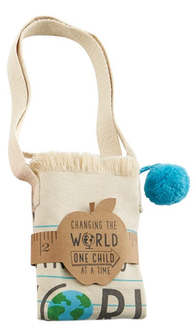 Mud Pie MP 40300006W World Pom Pom Teacher Tote