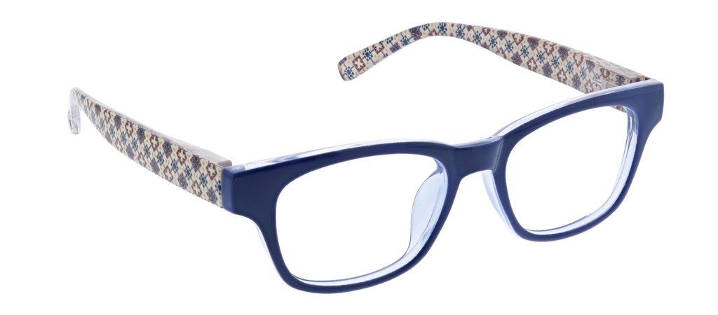 Peepers 2604150 Apres Ski-Blue/Patchwork +1.50