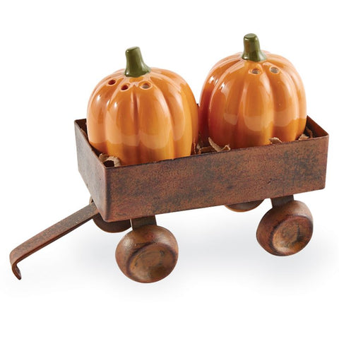 Mud Pie 40250021  Pumpkin Salt and Pepper Shaker