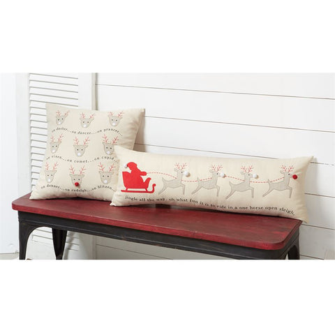 Mud Pie 41600254 Jingle All the Way Long Pillow