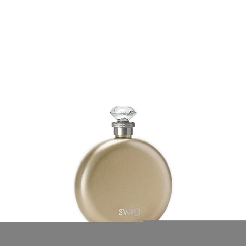 Occasionally Made OM S100-I05-CH Swig 5oz Round Flask Champagne