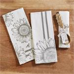 Two's Company TC 52322-20 Sunflower Dish Towel  & Spoon