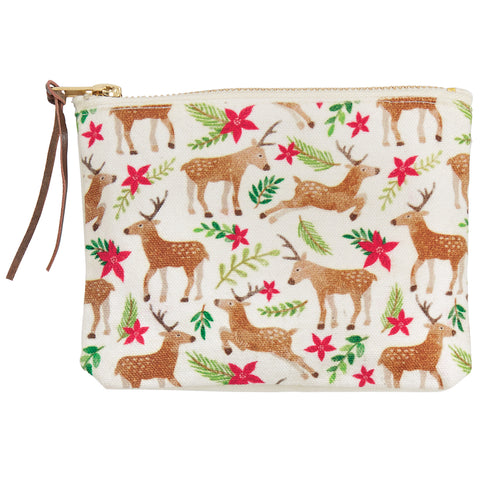 Mud Pie MP 41180003D Deer Repeated Deer Pouch
