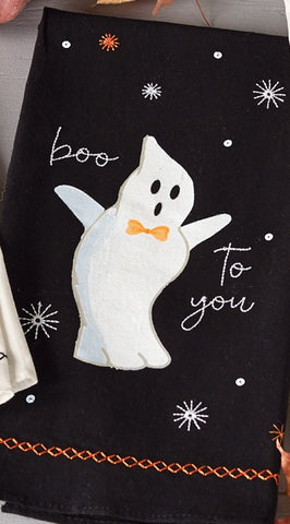 Mud Pie MP 41500027G Ghost Sequin Hand Towel