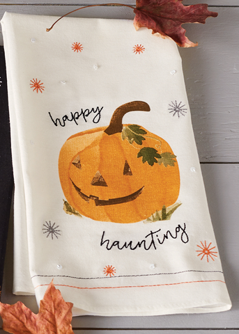 Mud Pie MP 41500027P Pumpkin Sequin Hand Towels