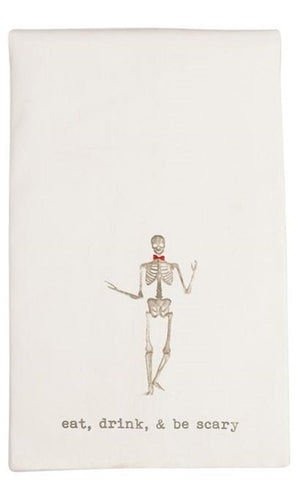 Mud Pie MP 41500028S Skeleton Icon Hand Towel
