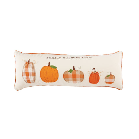 Mud Pie MP 41600237L Lumbar Pumpkin Family Pillow