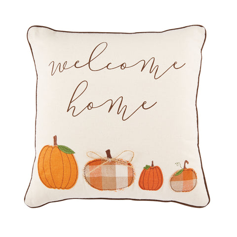 Mud Pie MP 41600237S Square Pumpkin Welcome Pillow