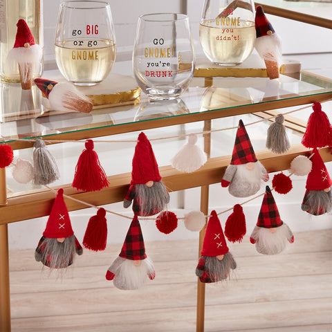 Mud Pie MP 42600331P Pom Gnome Garland