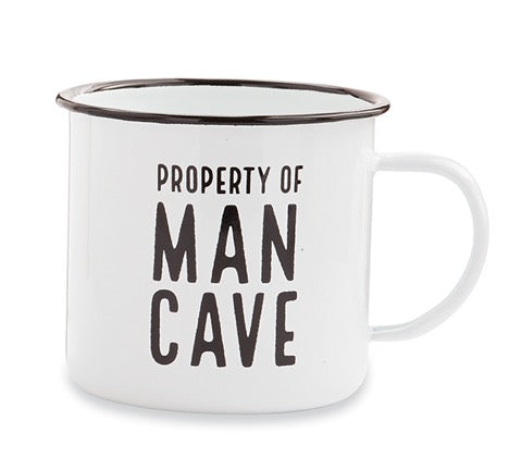 Mud Pie MP 43500034C Man Cave Enamel Mug