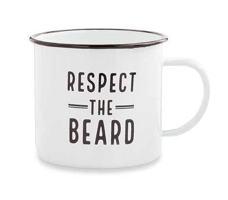 Mud Pie MP 43500034R Respect Man Enamel Mug